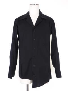 オープンカラーシャツ / Broad open collar shirt - BLACK -